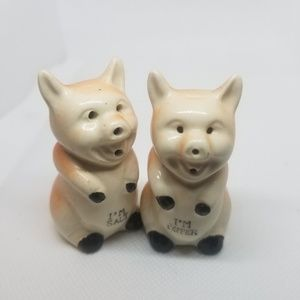 Vintage Salt And Pepper Shakers Cute Pigs Antiques